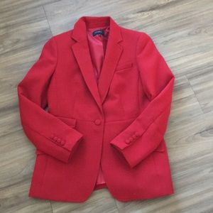 Talbots red riding coat size 10